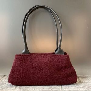 Furla Wool and Leather Satchel